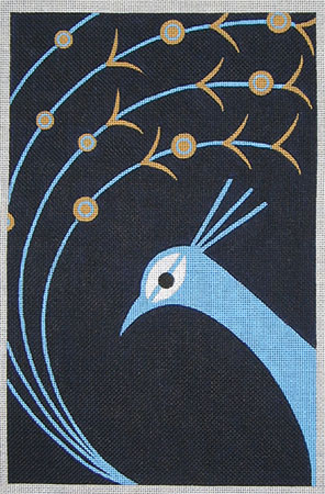 click here to view larger image of Preen Peacock (hand painted canvases)