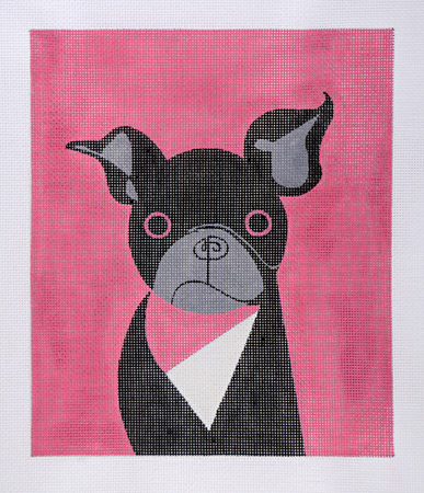 click here to view larger image of Mod Dog Pug (hand painted canvases)