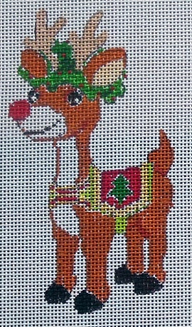 click here to view larger image of Rudolph (hand painted canvases)
