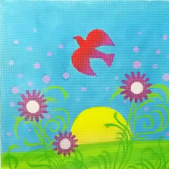 click here to view larger image of Summer Meadow (hand painted canvases)