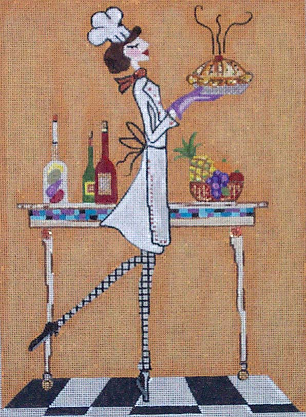 Woman Chef Baking hand painted canvases