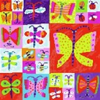 click here to view larger image of Butterfly Collection (hand painted canvases)