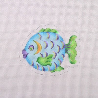 click here to view larger image of Blue Green and Purple Fish (hand painted canvases)