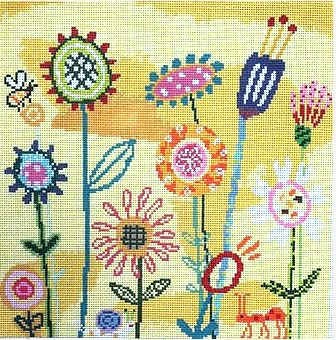 click here to view larger image of Amys Yellow Garden (hand painted canvases)