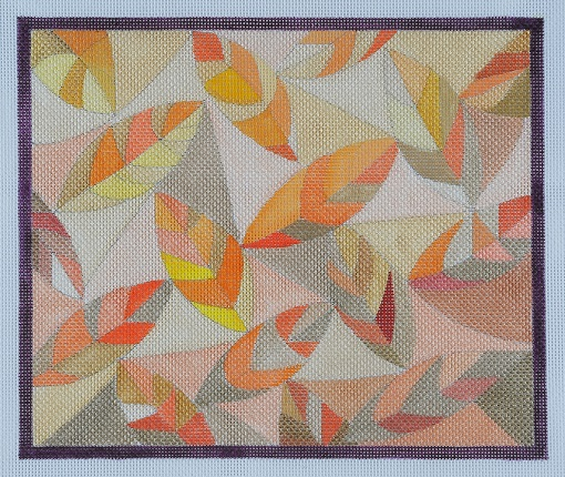 click here to view larger image of Quilt Of Leaves (hand painted canvases)