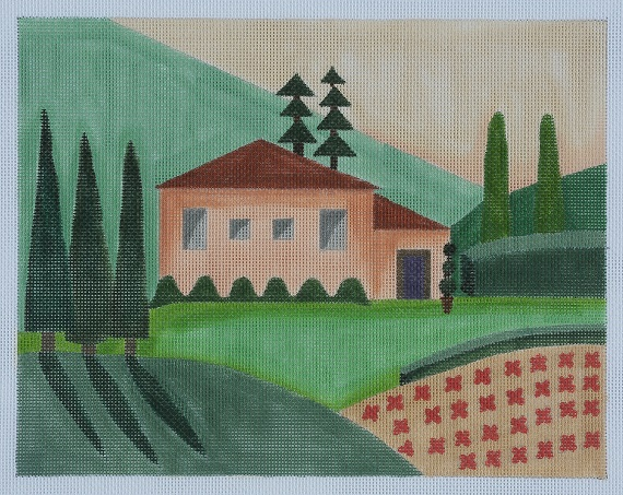 click here to view larger image of Tuscan Villa (hand painted canvases)
