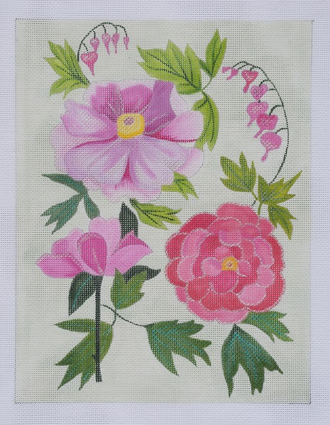click here to view larger image of Pink Peonies (hand painted canvases)