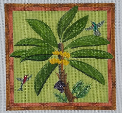 click here to view larger image of Banana Tree (hand painted canvases)