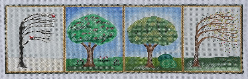 click here to view larger image of Four Seasons Tree (hand painted canvases)