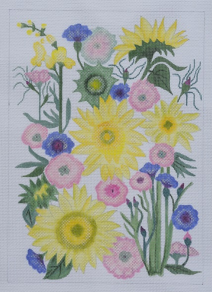 click here to view larger image of Sunflowers and Dahlias - Stitch Guide (books)