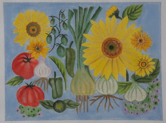 click here to view larger image of Sunflowers and Leeks - Stitch Guide (books)