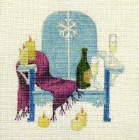 Cozy New Year - Adirondack Chairs Of The Month hand painted canvases