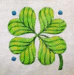 click here to view larger image of Shamrock - Hearts Of The Month (hand painted canvases)