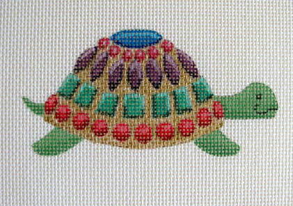click here to view larger image of Jewel Box Turtle - Painted Turtle (hand painted canvases)