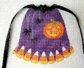 click here to view larger image of Halloween - Apron Strings Of The Month (hand painted canvases)