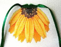 click here to view larger image of Brown Eyed Susan - Flower Apron (hand painted canvases)