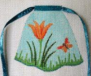 click here to view larger image of Lily In Grass - Flower Apron (hand painted canvases)
