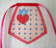 click here to view larger image of Heart Pocket - Pocket Apron (hand painted canvases)