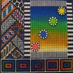 click here to view larger image of African Quilt (hand painted canvases)
