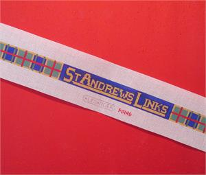click here to view larger image of St Andrews Links Belt (hand painted canvases)