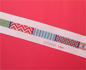 click here to view larger image of Pattern Variety Belt (hand painted canvases)