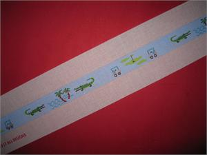 click here to view larger image of Golf and Gator Belt - Blue (hand painted canvases)