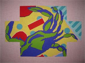 click here to view larger image of Blue Crab Brickcover (hand painted canvases)