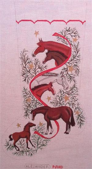 click here to view larger image of Horse Stocking (hand painted canvases)