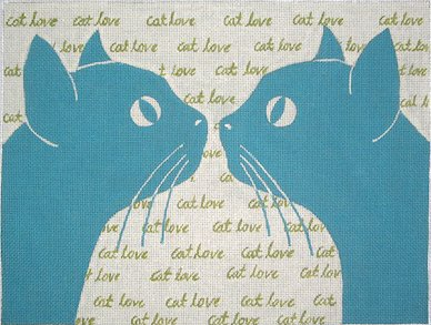 click here to view larger image of Cat Love (hand painted canvases)