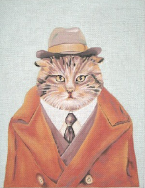 click here to view larger image of Detective Cat (hand painted canvases)