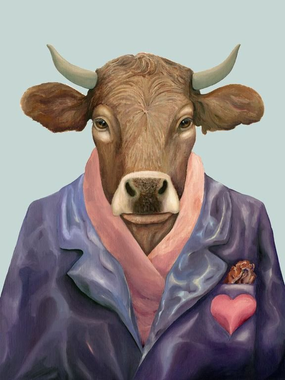 click here to view larger image of Lover Bull (hand painted canvases)