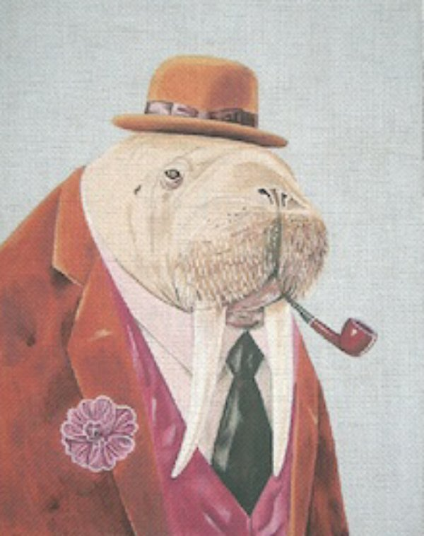 click here to view larger image of Mr Walrus (hand painted canvases)