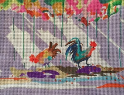 click here to view larger image of Key West Chickens (hand painted canvases)