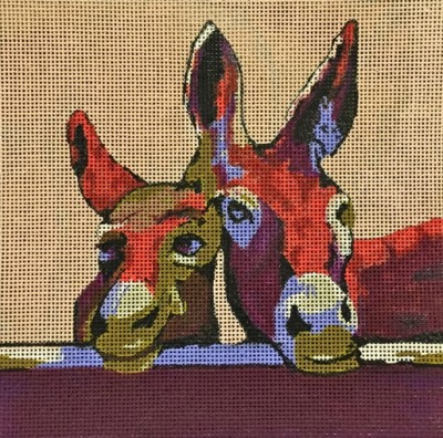 click here to view larger image of Donkeys (hand painted canvases)