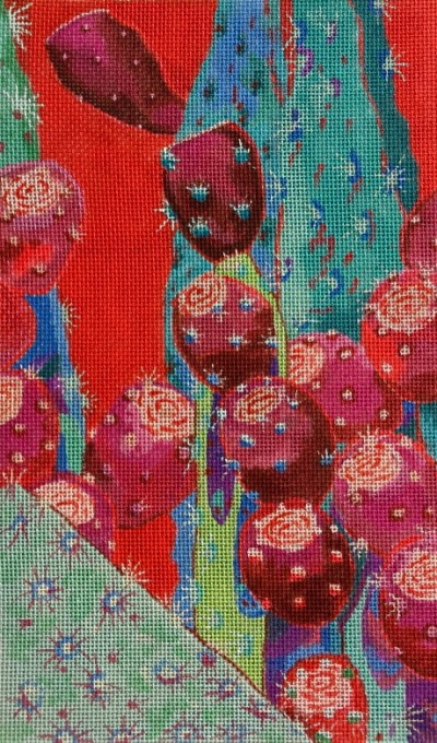 click here to view larger image of Crimson Fruit (hand painted canvases)