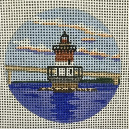 click here to view larger image of Plum Beach Light - RI (hand painted canvases)