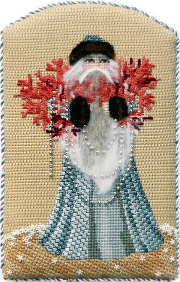 click here to view larger image of Coral Reef Santa - Stitch Guide (books)