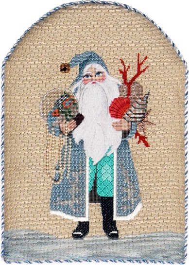 click here to view larger image of Globe Trotting Santa - Stitch Guide (books)