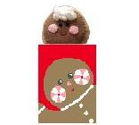 click here to view larger image of Gingerbread Treat Bag With Gingerbread Man (hand painted canvases)