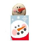 Snowman Treat Bag With Snowman hand painted canvases