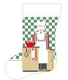 click here to view larger image of Chef Santa Stocking (hand painted canvases)