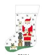 click here to view larger image of Dog Santa Stocking (hand painted canvases)