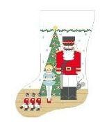 click here to view larger image of Nutcracker Stocking (hand painted canvases)