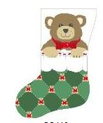 click here to view larger image of Boy Bear In Stocking (hand painted canvases)