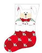 click here to view larger image of Boy Bunny In Stocking (hand painted canvases)