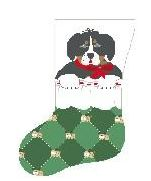 click here to view larger image of Burmese Mountain Dog In Stocking (hand painted canvases)