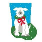 click here to view larger image of Dog Mini Sock (hand painted canvases)