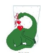 click here to view larger image of Dinosaur Mini Sock (hand painted canvases)