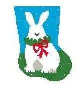 click here to view larger image of Bunny Mini Sock (hand painted canvases)