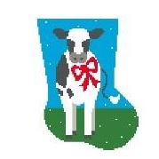 click here to view larger image of Cow Mini Sock (hand painted canvases)